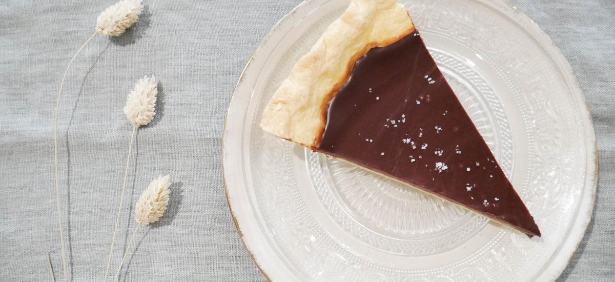 Tarte au chocolat et fleur de sel, façon Jamie Oliver